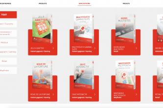 Application tactile présentation entreprise logiciels
