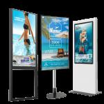 Solution digitalisation vitrine agences de voyages totem affichage dynamique