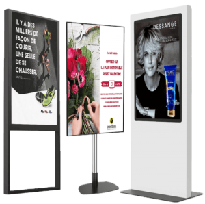 Solution digitalisation vitrine commerçants magasin totem affichage dynamique