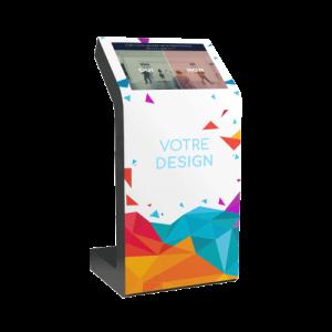 Borne tactile KIOSK S 22 pouces mesure de la satisfaction client