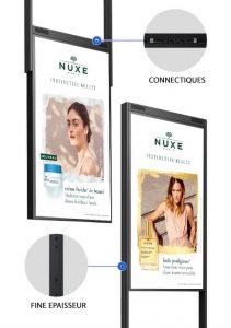 Totem vitrine digitale double face meilleure vente pharmacie digitalisation vitrine