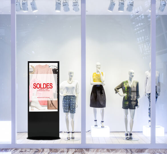 Solution digitalisation vitrine commerçants magasin affichage dynamique