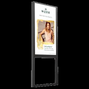 Vitrine digitale 55 pouces double face digitalisation pharmacie
