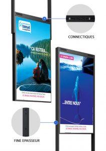 totem vitrine digitale double face meilleure vente agence de voyages