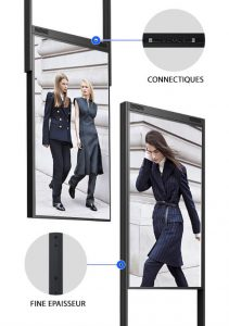 Totem vitrine digitale double face meilleure vente commerçant digitalisation vitrine