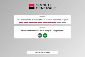 Application satisfaction Société Générale