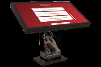 Application mesure satisfaction borne tactile KIOSK