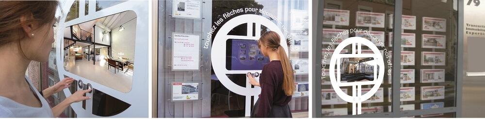 Clavier tactile Sensytouch vitrine interactive