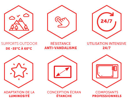 totem affichage dynamique urbain numérique 49 55 pouces Smart City