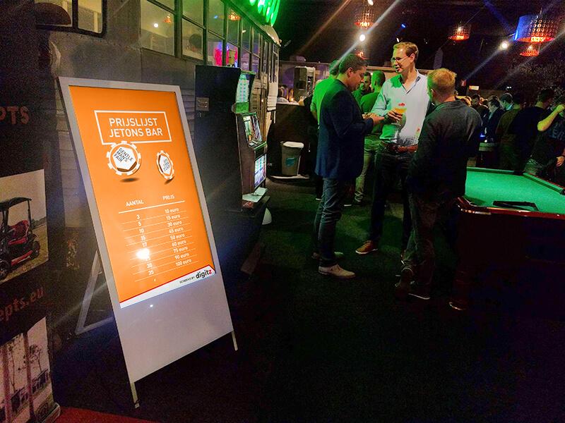 Chevalet numérique en intérieur pour événement