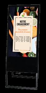Chevalet numérique saison aliment