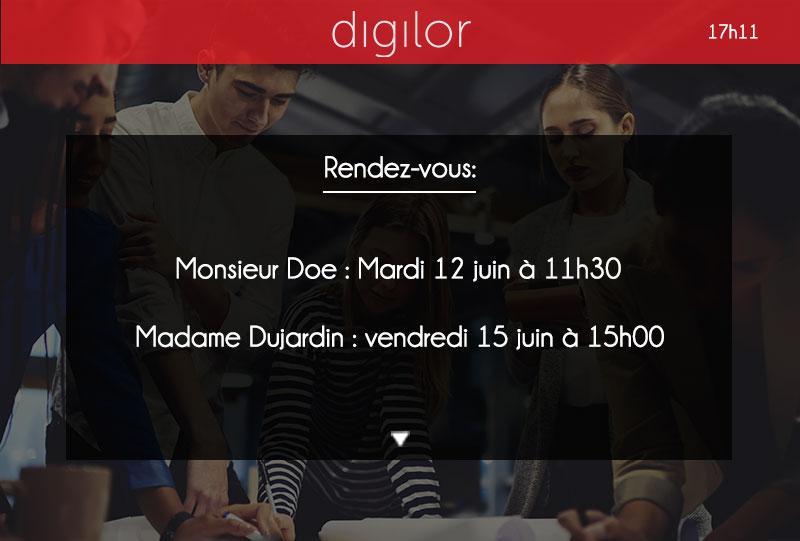 Digilor Signage Gestion affichage dynamique Entreprise