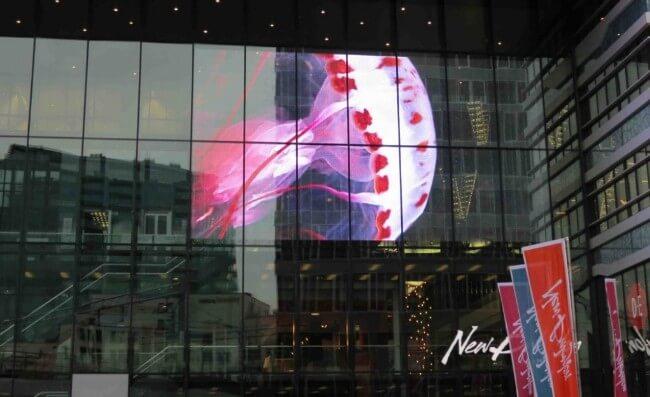 Panneau LED transparent événement