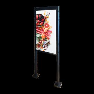 Support écran avec fixation au sol
