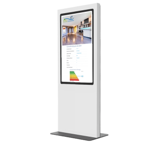 totem vitrine digitale 55 pouces agence immobilière