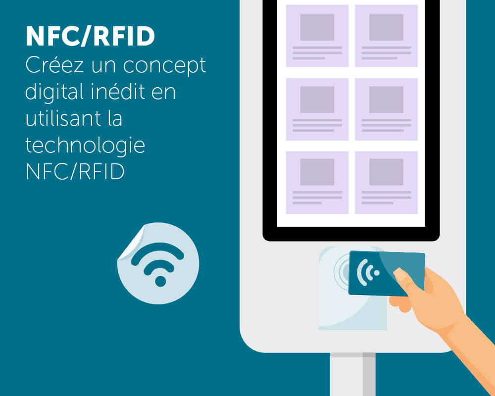 Application tactile NFC RFID