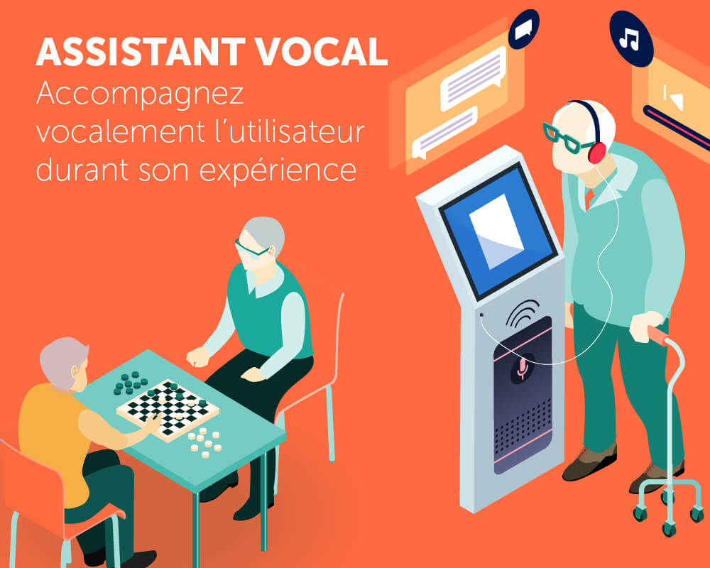 Application tactile assistant vocal