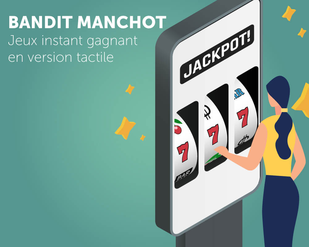 Application tactile bandit manchot