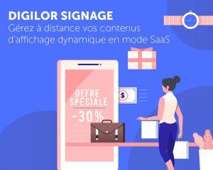 Application affichage dynamique digilor signage SaaS