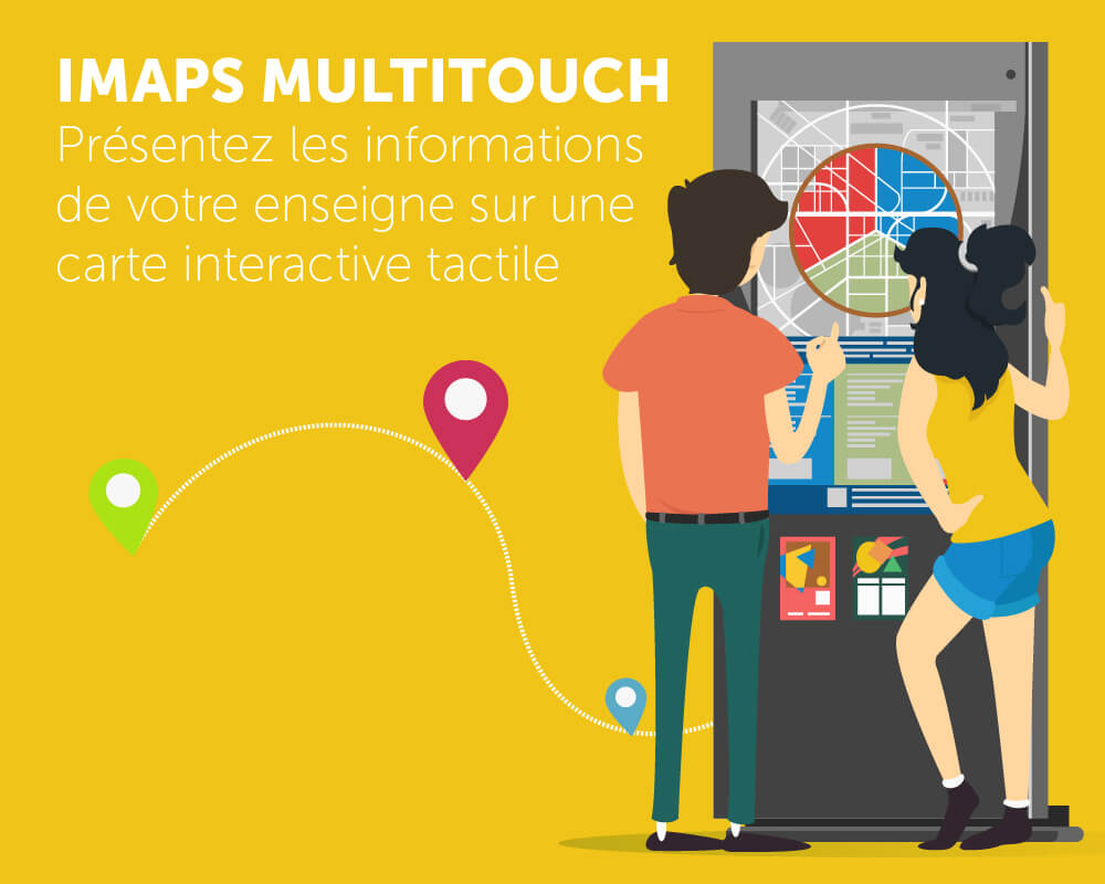 Application tactile iMaps Multitouch