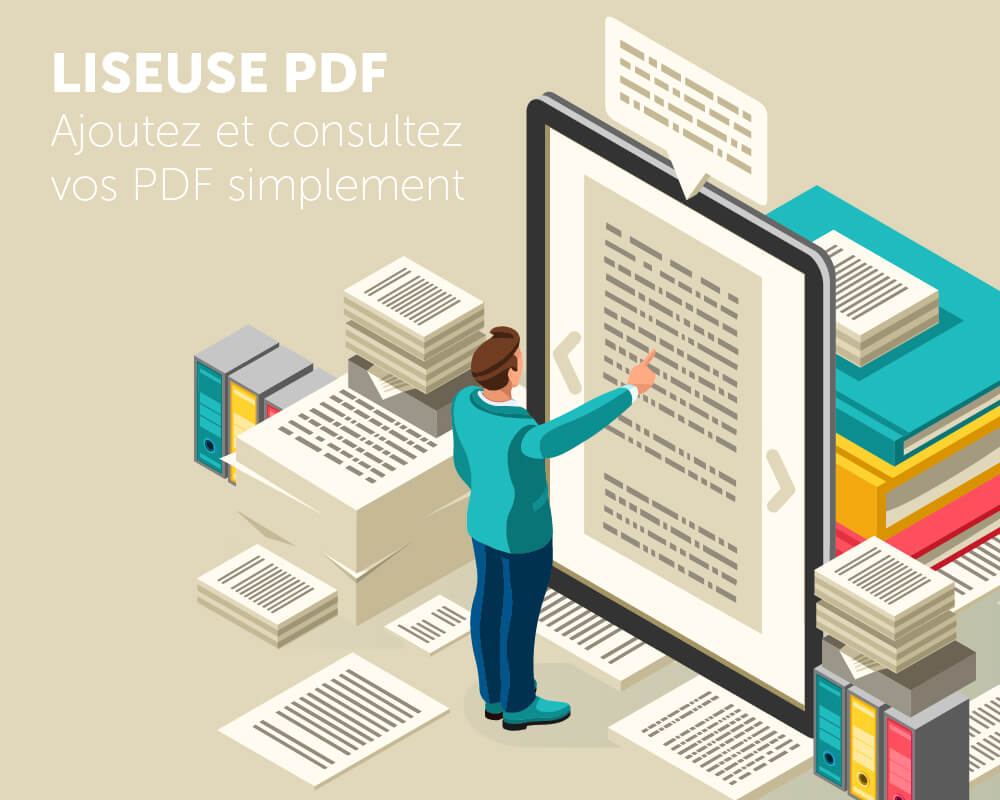 Application tactile liseuse PDF