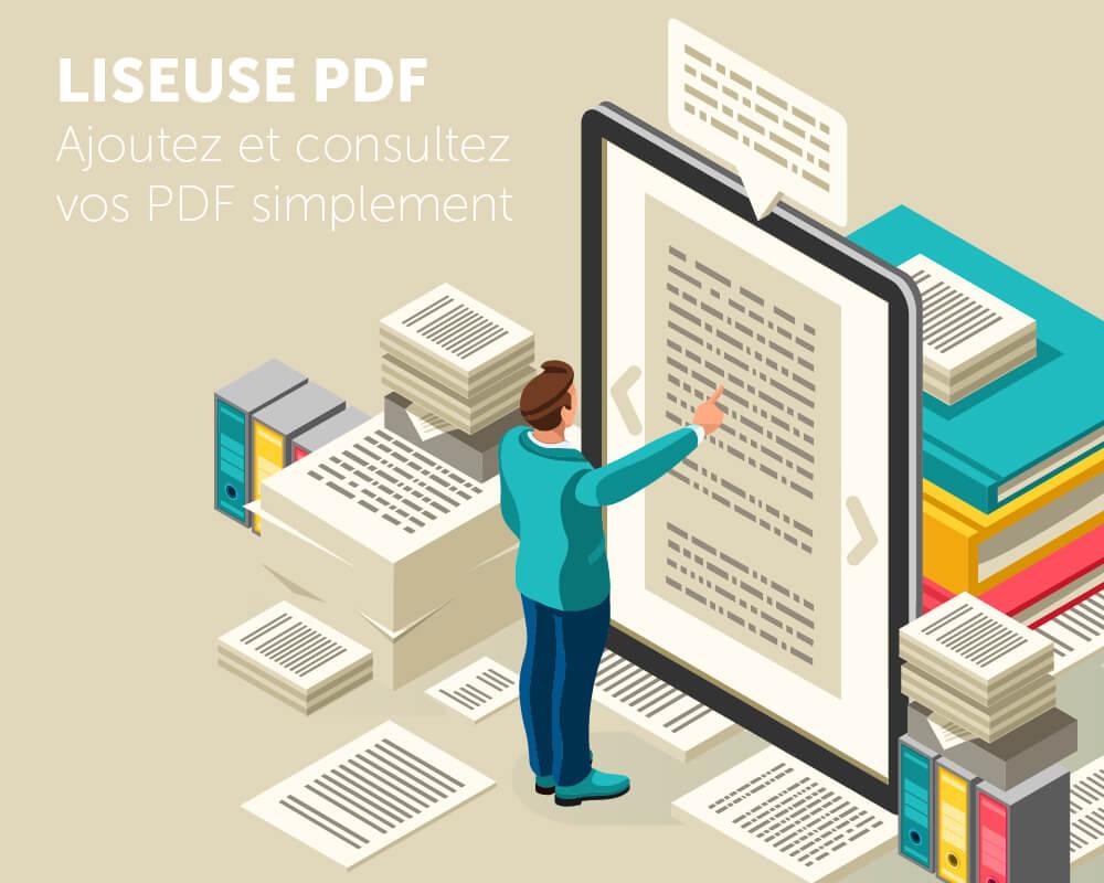 Application tactile liseuse PDF