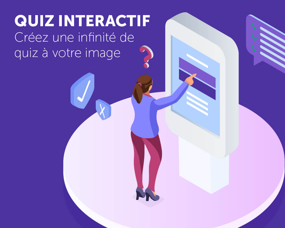 Application tactile quiz interactif