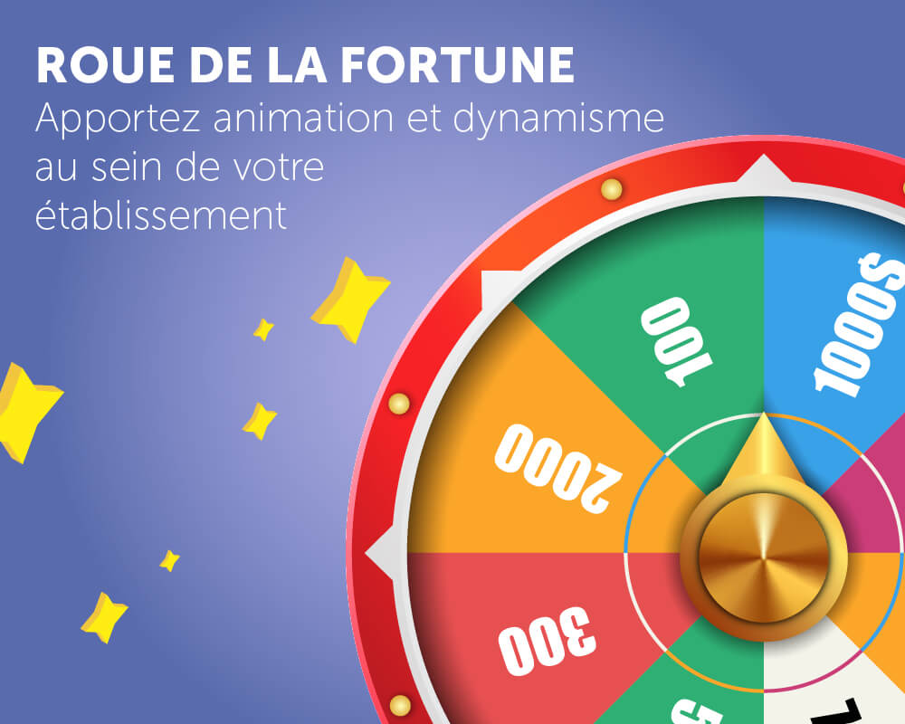 Application tactile roue de la fortune