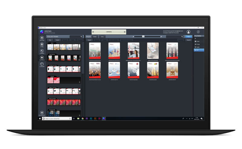 Arena multitouch logiciel création application tactile