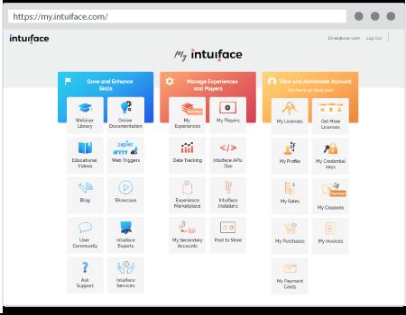Intuiface présentation création applications tactiles interactives panneau de configuration