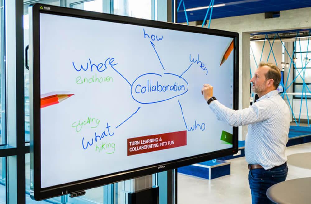 Salle de réunion écran numérique interactif