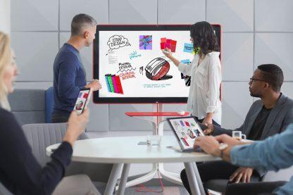Salle de réunion Google Jam Board travail collaboratif