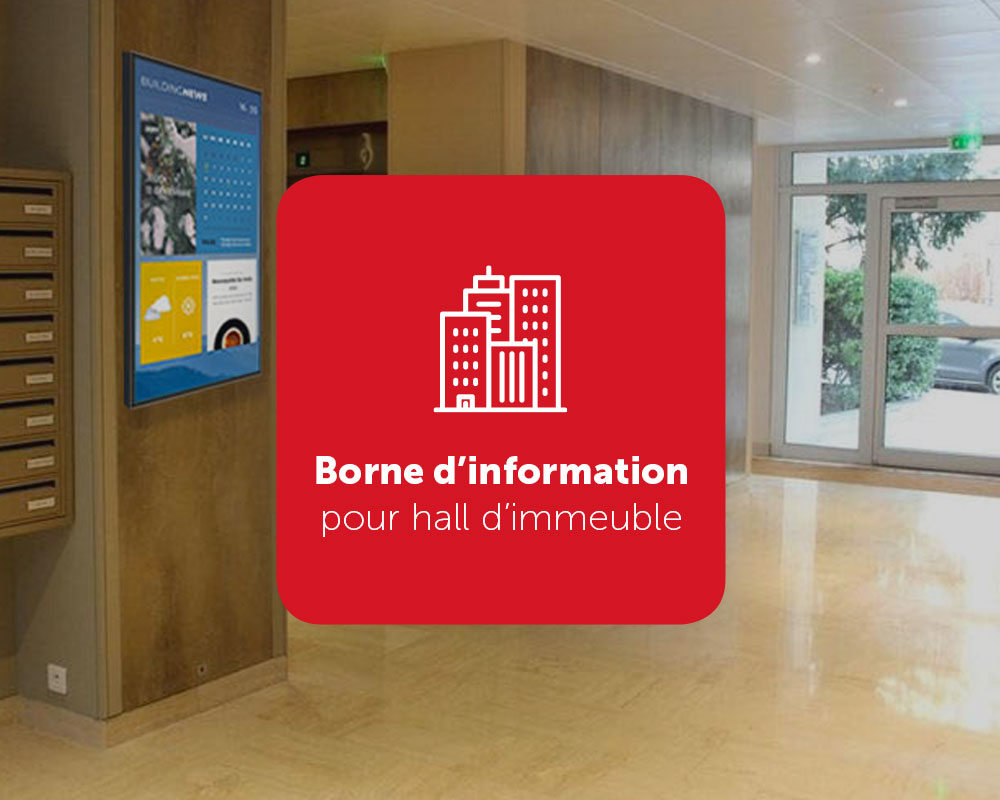 BuildingNews, borne d'information pour hall d'immeuble