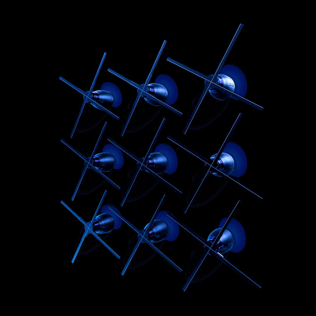 Mur hélices holographiques