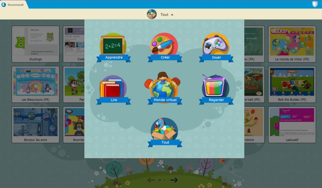 Système d'exploitation enfant académie