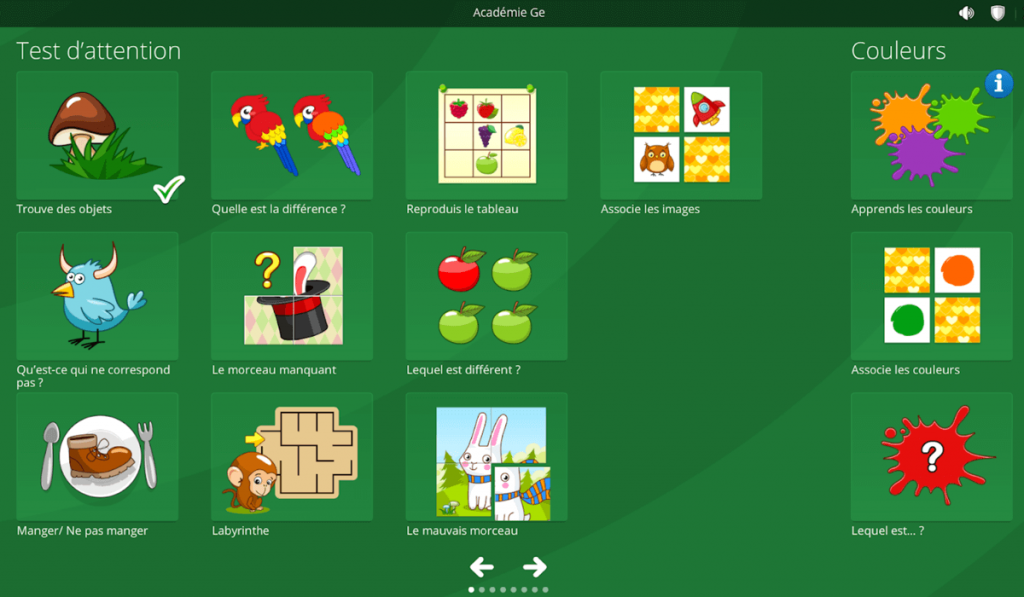 Système d'exploitation enfant centre de jeux