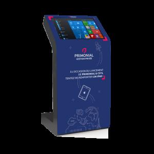 Borne tactile Kiosk stickers aimanté