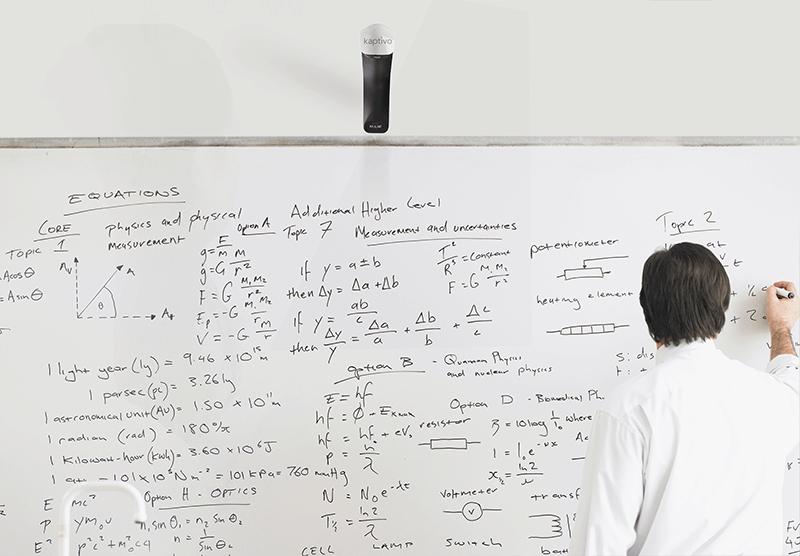 Caméra partage tableau blanc collaboratif ordinateur