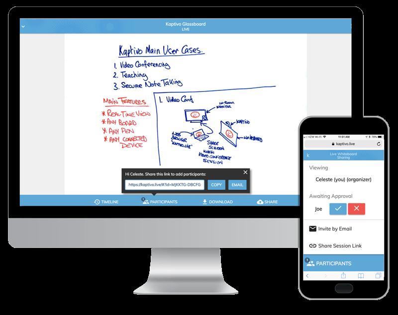 Tableau blanc collaboratif : partage sur ordinateur et smartphone