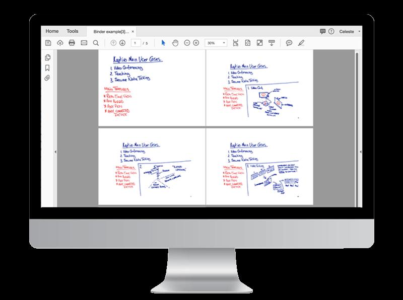 Tableau blanc collaboratif : téléchargement document PDF