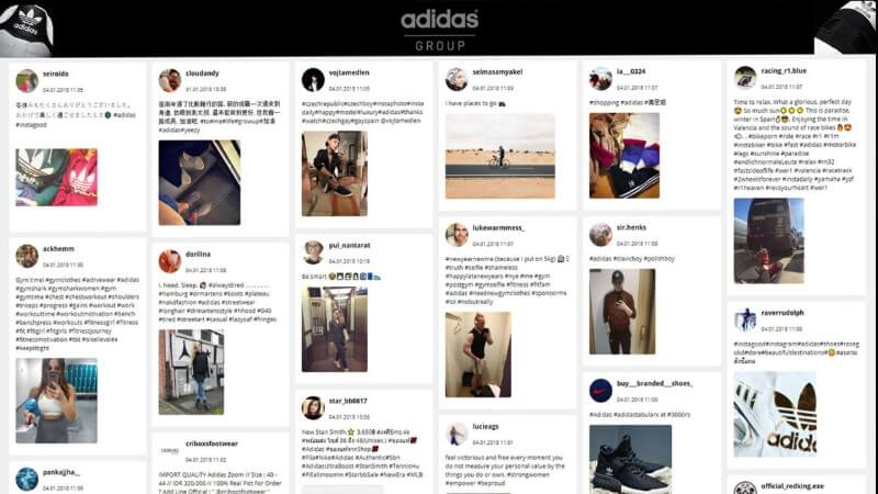 Application Social Wall Adidas