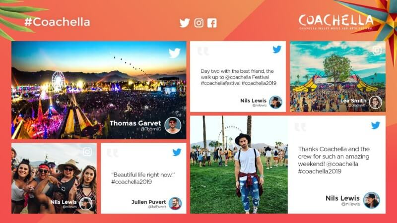 Application Social Wall événement Coachella