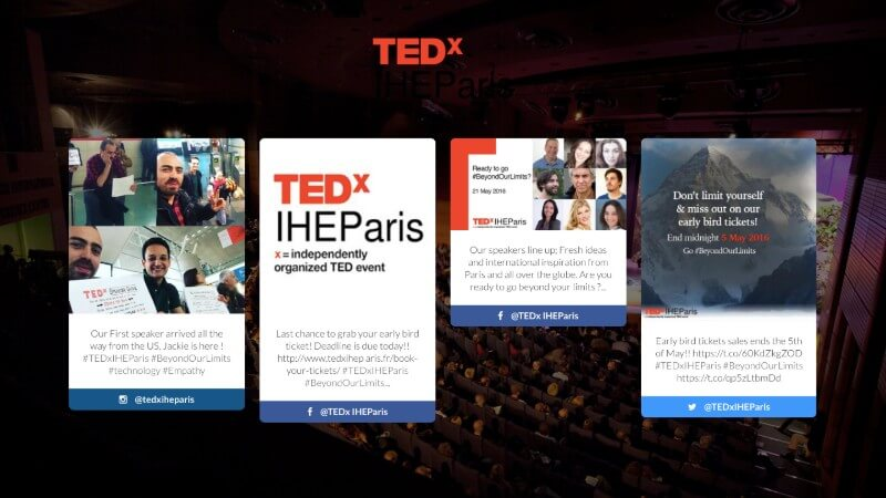Application Social Wall Conférence TED Talks