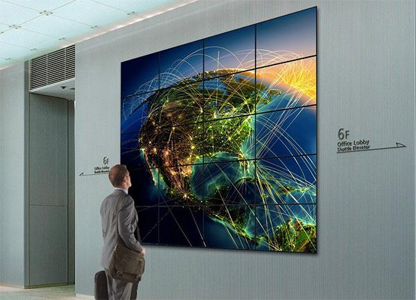 mur d'images Samsung affichage dynamique entreprise