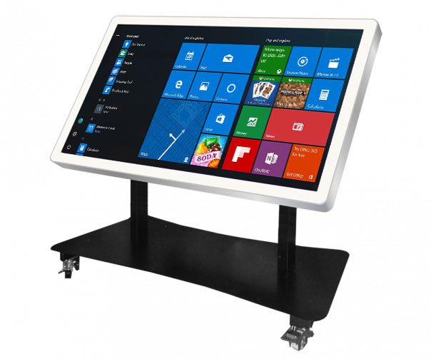 Table interactive multitouch vari tilt grand format