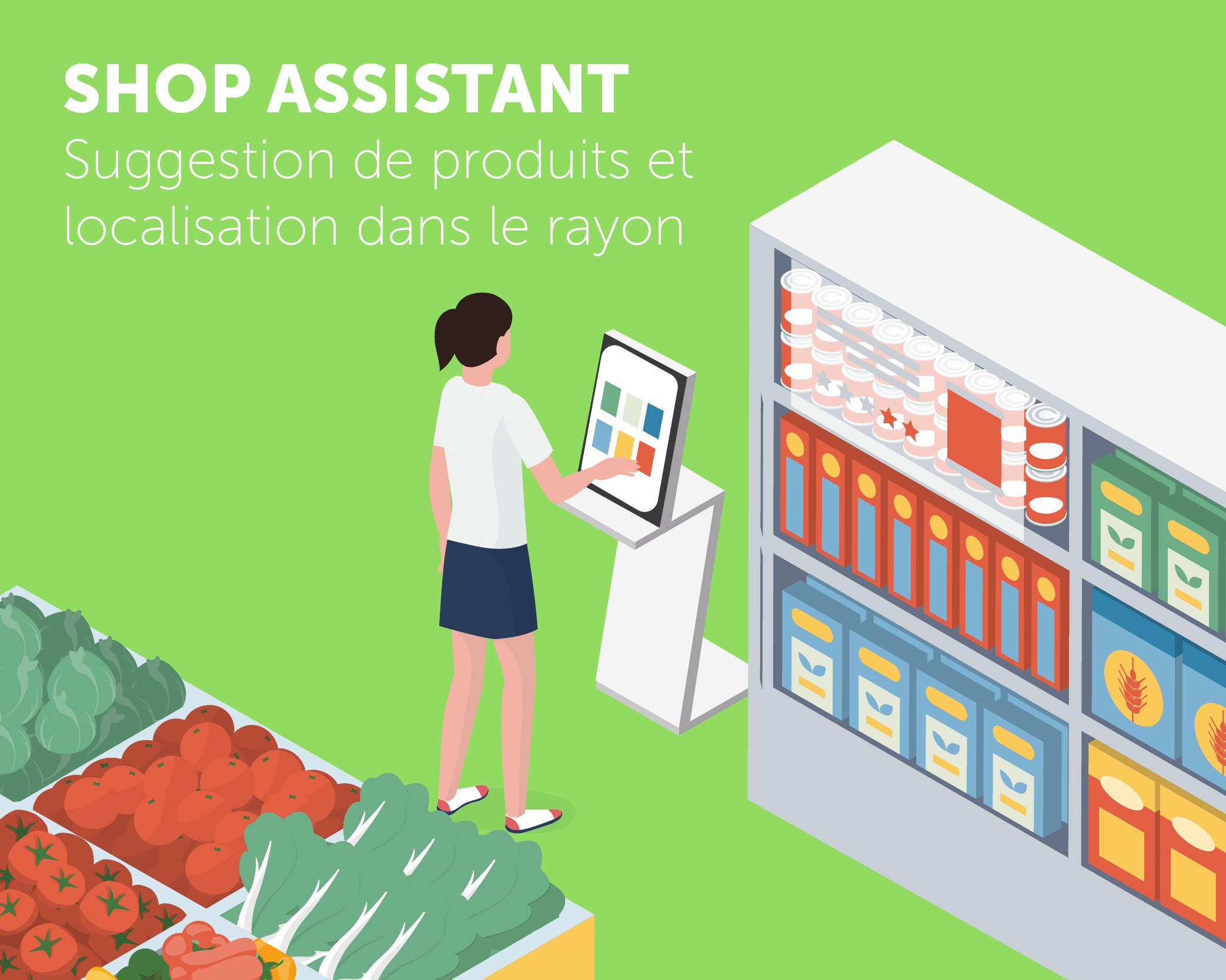 Application tactile Shop Assistant