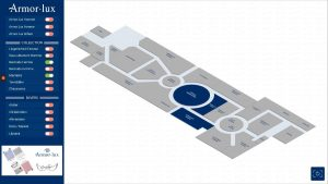 Application tactile Wayfinder plan interactif Armor Lux