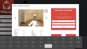 Immosearch application fiche descriptive appartement
