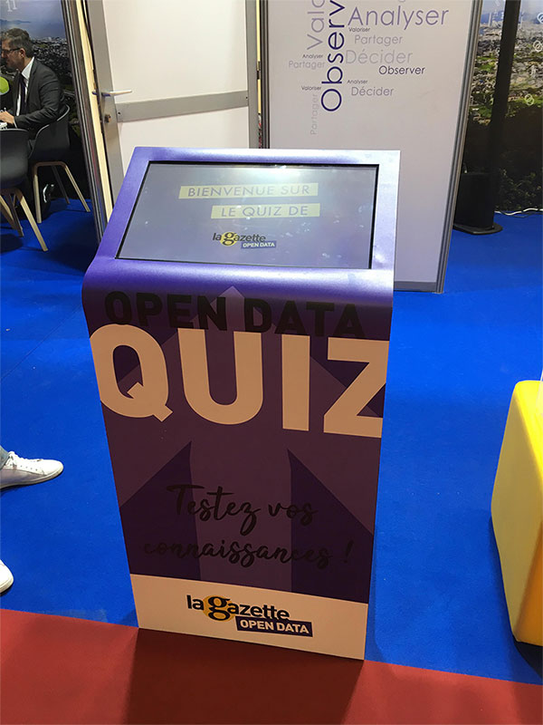 Borne tactile Kiosk S Quiz