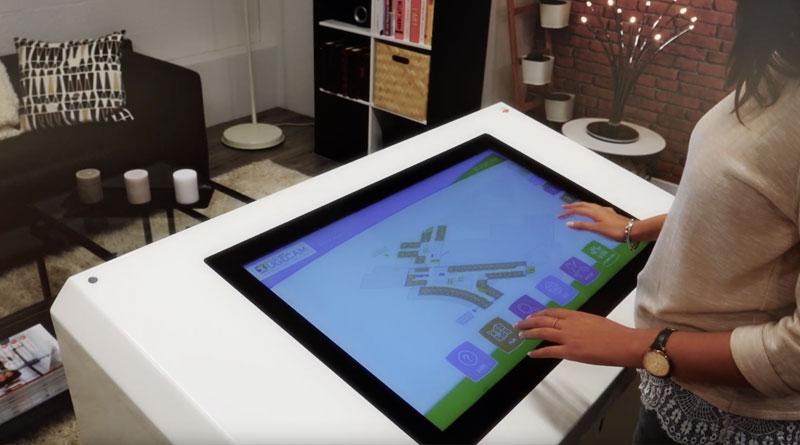 Borne tactile PMR plan interactif